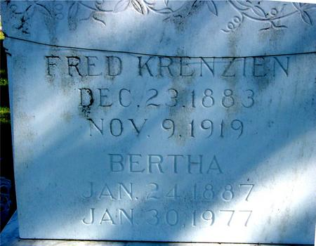 KRENZIEN, FRED & BERTHA - Sac County, Iowa | FRED & BERTHA KRENZIEN
