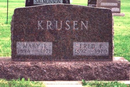 REYNOLDS KRUSEN, MARY - Sac County, Iowa | MARY REYNOLDS KRUSEN