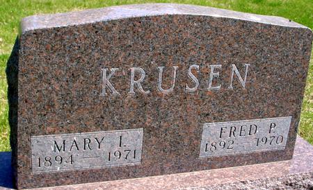KRUSEN, FRED & MARY - Sac County, Iowa   FRED & MARY KRUSEN