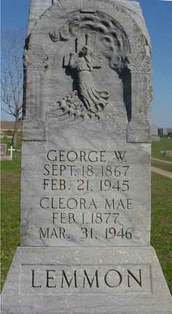 LEMMON, GEORGE & CLEORA M. - Sac County, Iowa | GEORGE & CLEORA M. LEMMON