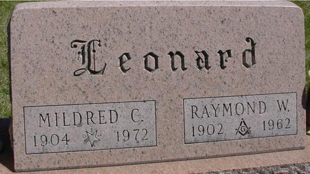 LEONARD, RAY & MILDRED C. - Sac County, Iowa | RAY & MILDRED C. LEONARD