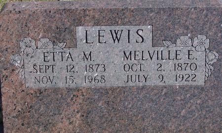 LEWIS, MELVILLE & ETTA M. - Sac County, Iowa | MELVILLE & ETTA M. LEWIS