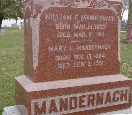 MANDERNACH, WILLIAM & MARY - Sac County, Iowa | WILLIAM & MARY MANDERNACH
