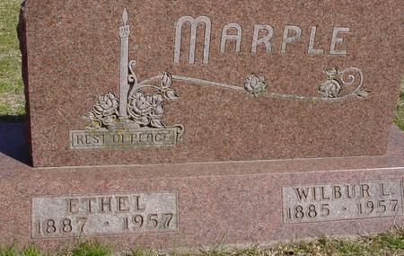 MARPLE, WILBUR L. & ETHEL - Sac County, Iowa | WILBUR L. & ETHEL MARPLE
