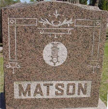 MATSON, GRAVESTONE G.A.R. - Sac County, Iowa | GRAVESTONE G.A.R. MATSON