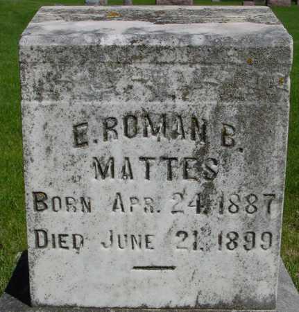 MATTES, E. ROMAN B. - Sac County, Iowa | E. ROMAN B. MATTES