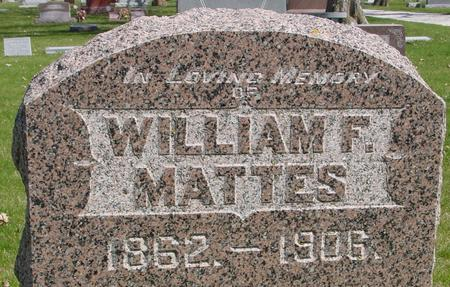 MATTES, WILLIAM F. - Sac County, Iowa | WILLIAM F. MATTES