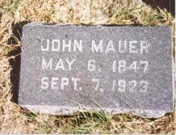 MAUER, JOHN - Sac County, Iowa | JOHN MAUER