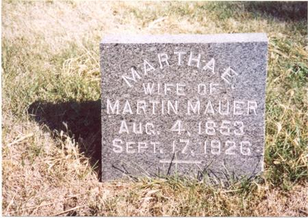 MAUER, MARTHA E. - Sac County, Iowa | MARTHA E. MAUER