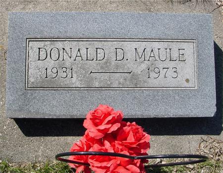 MAULE, DONALD D. - Sac County, Iowa | DONALD D. MAULE