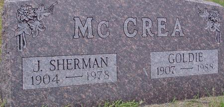 MC CREA, J. SHERMAN & GOLDIE - Sac County, Iowa | J. SHERMAN & GOLDIE MC CREA