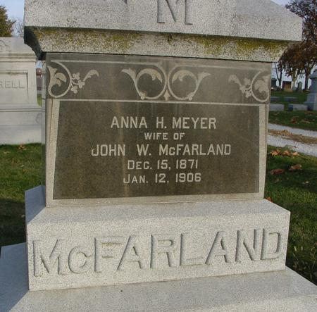 MEYER MC FARLAND, ANNA H. - Sac County, Iowa | ANNA H. MEYER MC FARLAND
