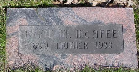 MCAFEE, EFFIE M. - Sac County, Iowa | EFFIE M. MCAFEE