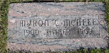 MCAFEE, MYRON C. - Sac County, Iowa | MYRON C. MCAFEE