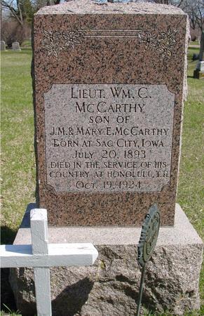 MCCARTHY, LT. WILLIAM C. - Sac County, Iowa | LT. WILLIAM C. MCCARTHY