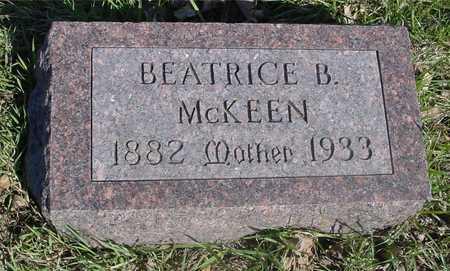 MCKEEN, BEATRICE B. - Sac County, Iowa | BEATRICE B. MCKEEN