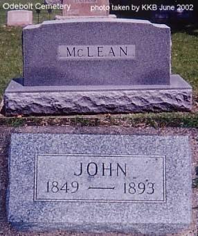 MCLEAN, JOHN - Sac County, Iowa | JOHN MCLEAN