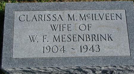 MC ILVEEN MESENBRINK, CLARISSA M. - Sac County, Iowa | CLARISSA M. MC ILVEEN MESENBRINK