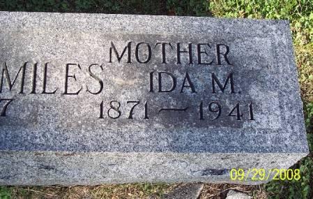 MILES, IDA M - Sac County, Iowa   IDA M MILES