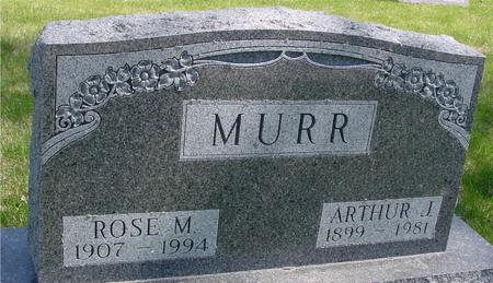 MURR, ARTHUR & ROSE - Sac County, Iowa   ARTHUR & ROSE MURR