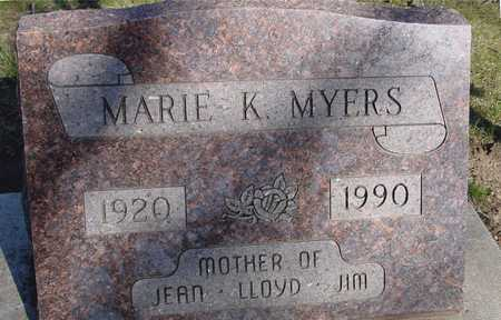 MYERS, MARIE K. - Sac County, Iowa | MARIE K. MYERS