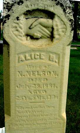NELSON, ALICE - Sac County, Iowa | ALICE NELSON