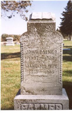PALMER, JOHN & JANE - Sac County, Iowa | JOHN & JANE PALMER