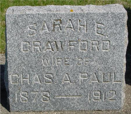 CRAWFORD PAUL, SARAH E. - Sac County, Iowa | SARAH E. CRAWFORD PAUL