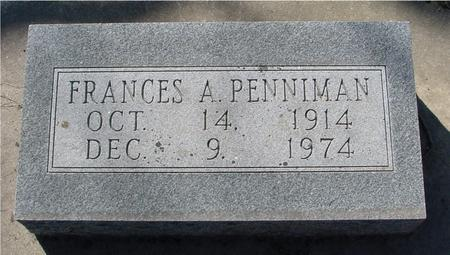 PENNIMAN, FRANCES A. - Sac County, Iowa | FRANCES A. PENNIMAN