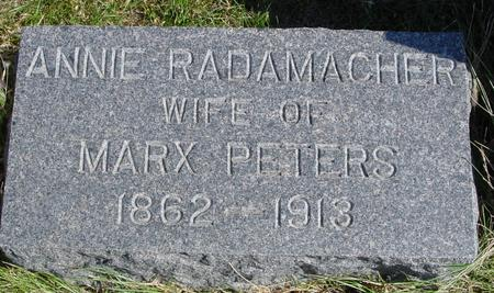 RADAMACHER PETERS, ANNIE - Sac County, Iowa | ANNIE RADAMACHER PETERS