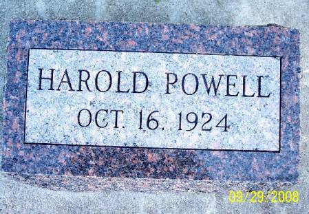 POWELL, HAROLD - Sac County, Iowa | HAROLD POWELL