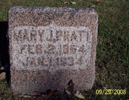 PRATT, MARY J - Sac County, Iowa | MARY J PRATT
