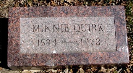 QUIRK, MINNIE - Sac County, Iowa | MINNIE QUIRK
