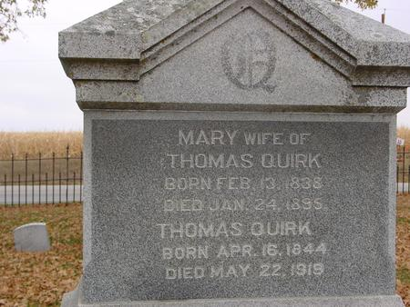 QUIRK, THOMAS & MARY - Sac County, Iowa | THOMAS & MARY QUIRK
