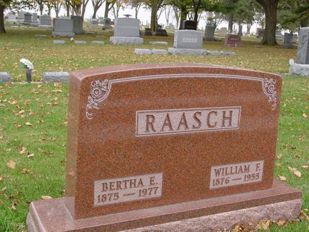 RAASCH, WILLIAM & BERTHA - Sac County, Iowa | WILLIAM & BERTHA RAASCH