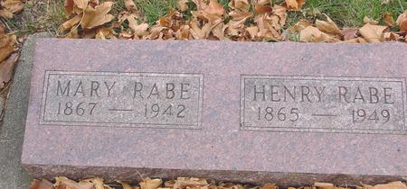 RABE, HENRY & MARY - Sac County, Iowa | HENRY & MARY RABE