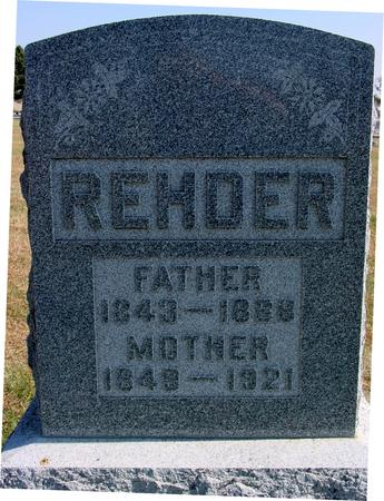 REHDER, MOTHER & FATHER - Sac County, Iowa | MOTHER & FATHER REHDER