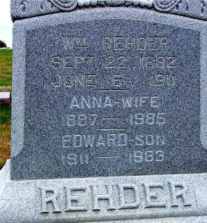 REHDER, WM. & ANNA - Sac County, Iowa | WM. & ANNA REHDER