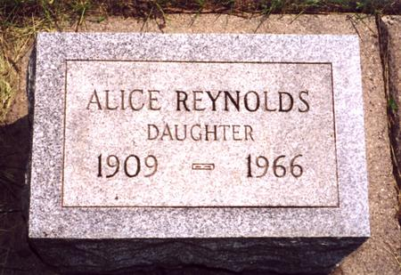 REYNOLDS, ALICE - Sac County, Iowa | ALICE REYNOLDS