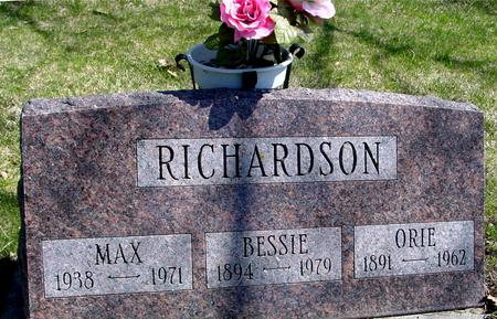 RICHARDSON, ORIE & BESSIE - Sac County, Iowa | ORIE & BESSIE RICHARDSON