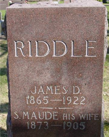 RIDDLE, JAMES & S. MAUDE - Sac County, Iowa | JAMES & S. MAUDE RIDDLE