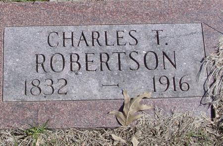 ROBERTSON, CHARLES T. - Sac County, Iowa | CHARLES T. ROBERTSON