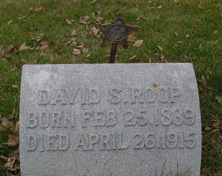 ROOP, DAVID S. - Sac County, Iowa   DAVID S. ROOP