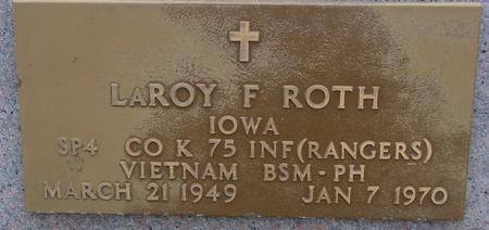 ROTH, LEROY F. - Sac County, Iowa | LEROY F. ROTH