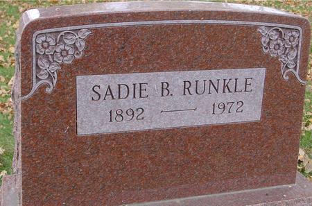 RUNKLE, SADIE B. - Sac County, Iowa | SADIE B. RUNKLE