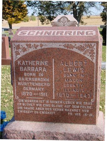 SCHNIRRING, ALBERT & KATHERINE - Sac County, Iowa | ALBERT & KATHERINE SCHNIRRING