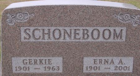 SCHONEBOOM, GERKIE & ERNA - Sac County, Iowa | GERKIE & ERNA SCHONEBOOM