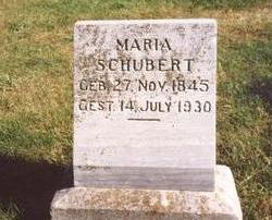 SCHUBERT, MARIA - Sac County, Iowa | MARIA SCHUBERT