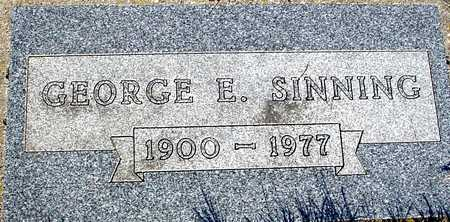 SINNING, GEORGE E. - Sac County, Iowa | GEORGE E. SINNING