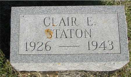 STATON, CLAIR E. - Sac County, Iowa | CLAIR E. STATON